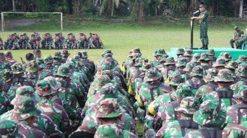 Kasdam I/BB Bersama Danbrigif 7/RR Buka Latihan Pra-tugas Satgas Pamtas RI-PNG TA 2020