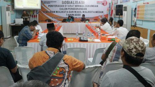4 Balon Perseorangan Hadiri Sosialisasi KPU Kota Medan