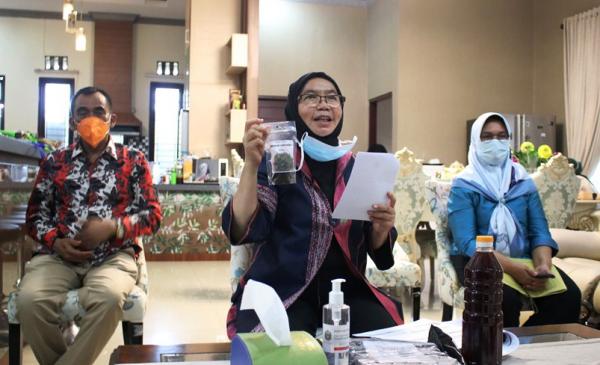 Sekdaprov) Sumut R Sabrina membuka dan mengikuti seminar nasional secara virtual yang diselenggarakan Forum Alumni HMI-Wati (Forhati) Wilayah Sumut, di Rumah Dinas Sekdaprov S