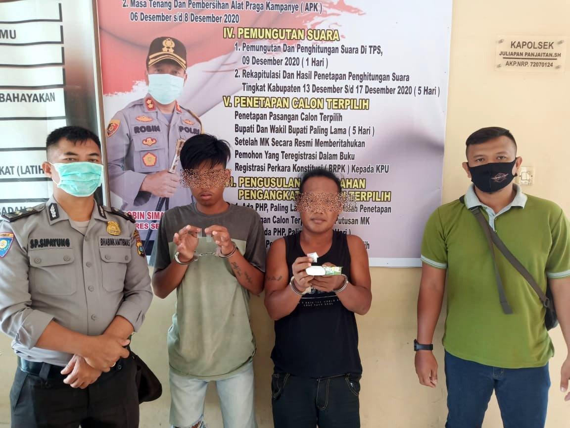 Lagi Transaksi narkoba, Dua Pria Diciduk Polisi