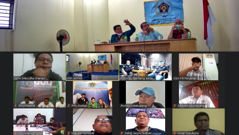 PWI Madina Ikuti Rapat Pleno Virtual Sambut HPN 2021 Se-Sumut 1