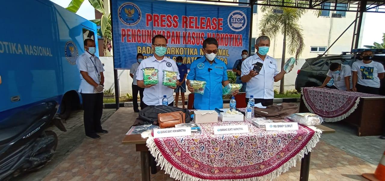 BNNP Sumut Gagalkan Penyelundupan Sabu dalam Pisang Sale