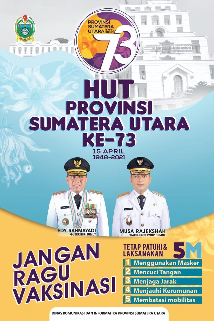 HUT Provinsi Sumatera Utara Ke 73