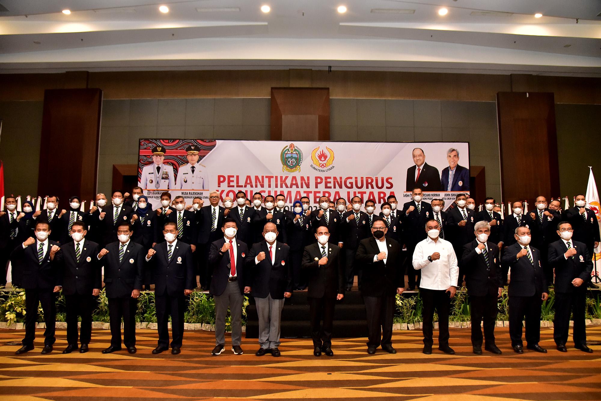 Pengurus KONI Sumut Periode 2021-2025 Dilantik, Gubernur Tekankan Tugas Berat Hadapi PON XX dan XXI