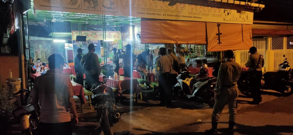 Polsek Medan Kota Tertibkan 25 Rumah Makan