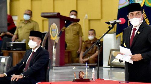 Gubernur Sumut Edy Rahmayadi melantik delapan Pejabat