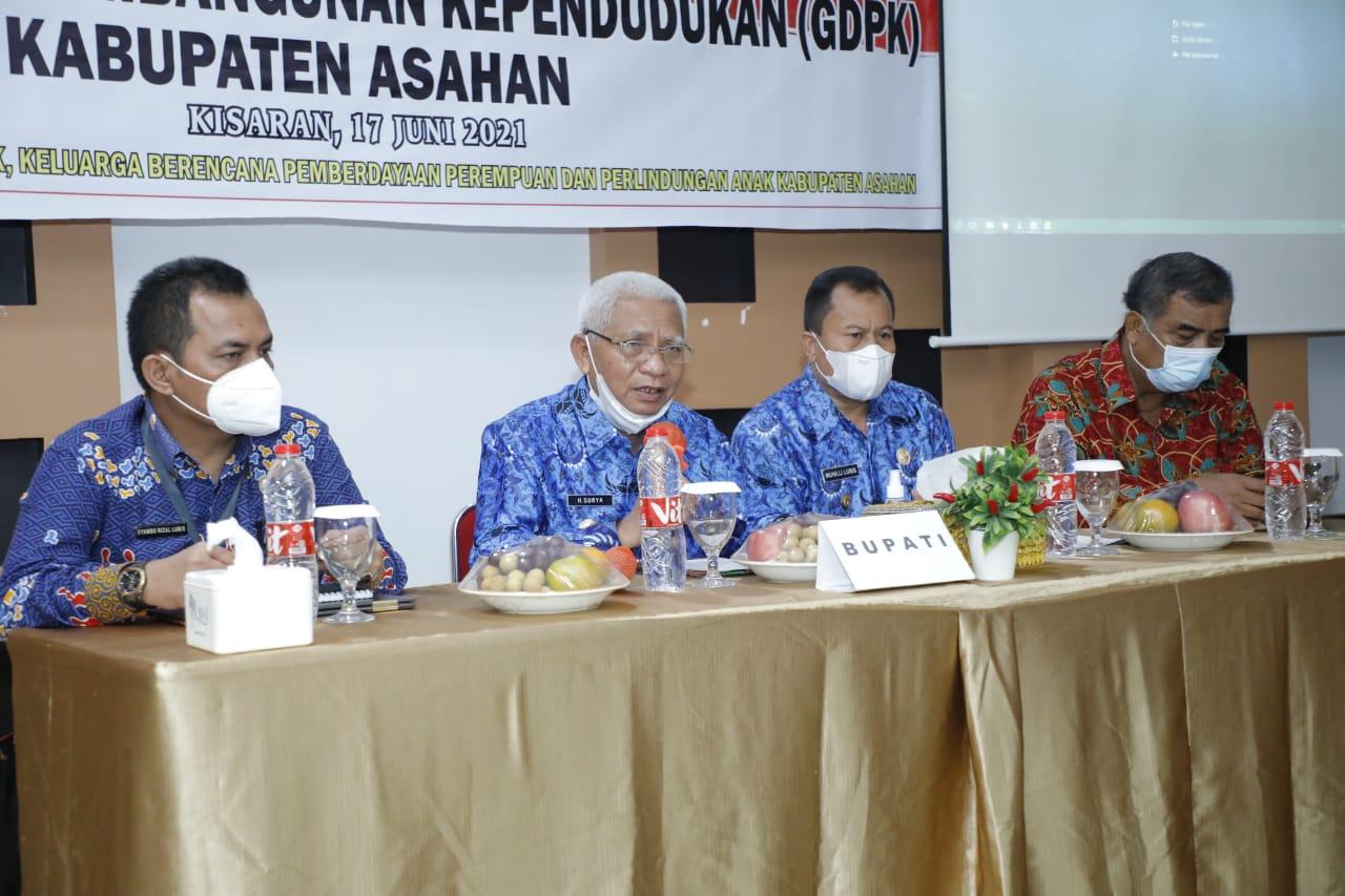 Bupati Asahan Buka Pertemuan Penyusunan Grand Design Pembangunan Kependudukan