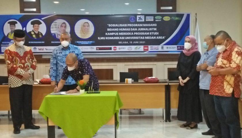 Prodi Komunikasi Fisip UMA Jalin MoA dengan 22 Mitra