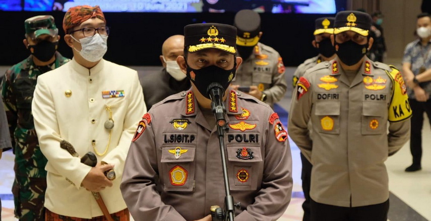 Panglima TNI Marsekal Hadi Tjahjanto dan Kapolri Jenderal Listyo Sigit Prabowo