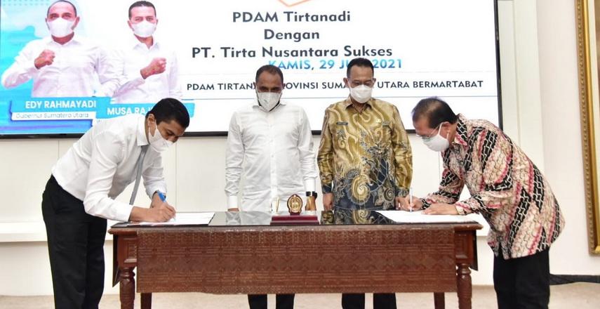 PDAM Tirtanadi Jalin MoU dengan Pihak Swasta