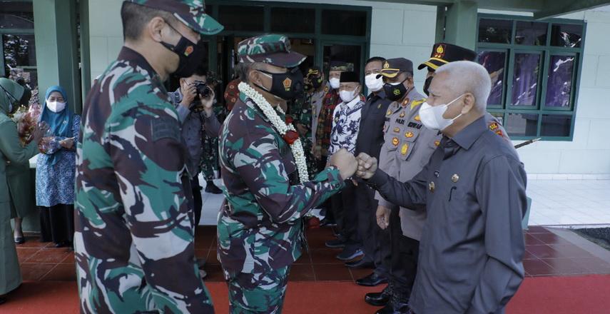 Bupati Asahan H Surya BSc dan Forkopimda sambut kunker (kunjungan kerja) Danrem 022/PT