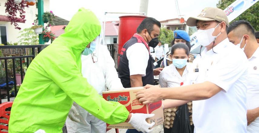 Bupati Taput Monitoring Posko Pencegahan Covid-19 Desa