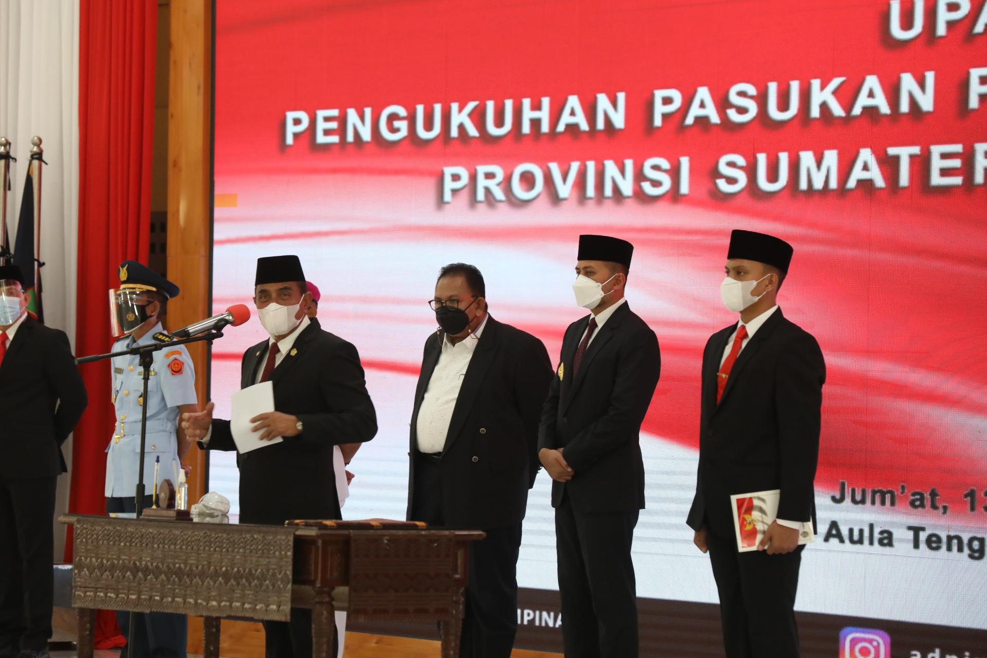 Gubsu Semangati Paskibraka Sumut, Tetap Jaga Gelora Kemerdekaan di Masa Pandemi