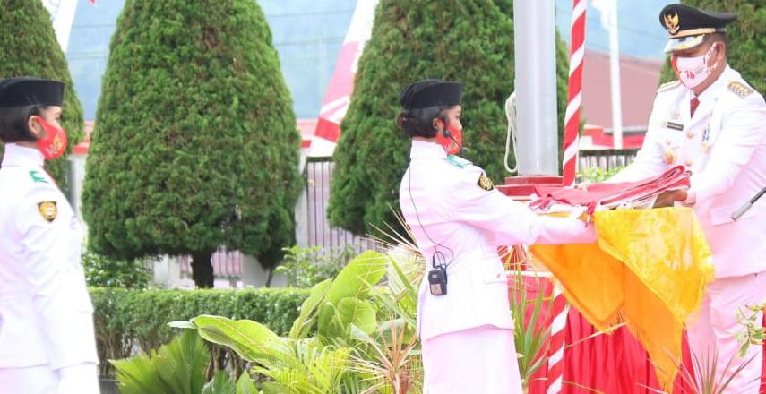 Bupati Taput Pimpin Upacara Peringatan Kemerdekaan ke-76 Republik Indonesia