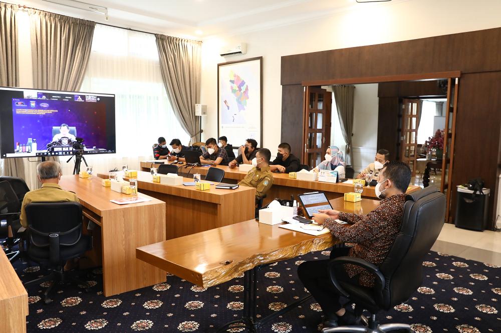 Wagub Musa Rajekshah Ikuti Acara Peluncuran Sinergitas Pengelolaan MCP Terkait Pemberantasan Korupsi