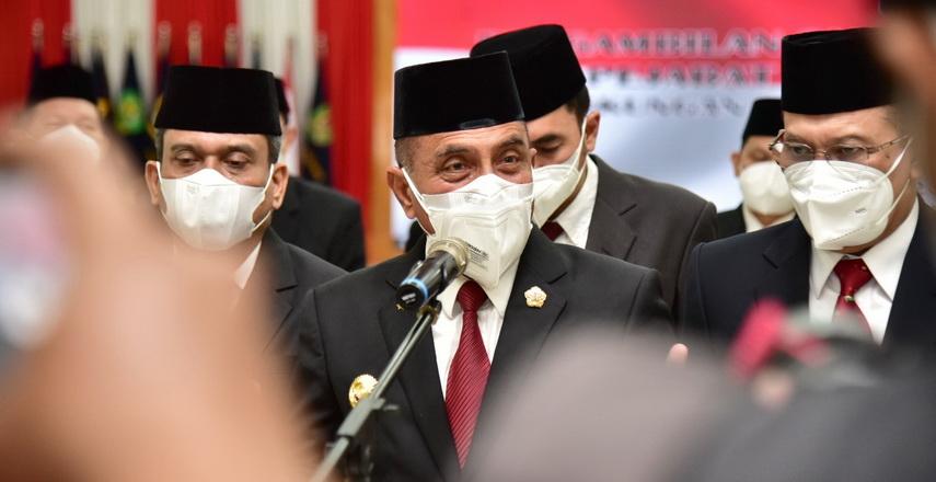 Gubernur Sumut Edy Rahmayadi, hanya melantik empat dari lima pejabat hasil lelang jabatan