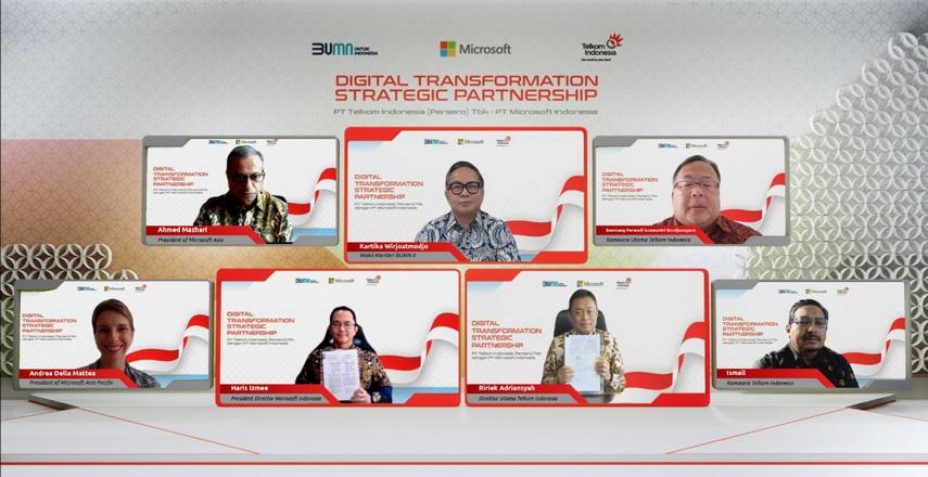 Kolaborasi Telkom dan Microsoft untuk Akselerasi Transformasi Digital