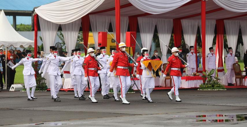 Musa Rajekshah Pimpin Upacara HUT ke-76 RI di Lanud Soewondo