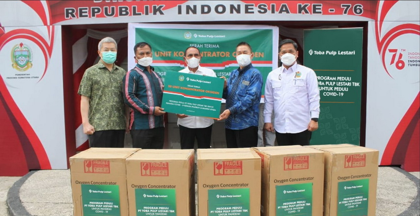 PT Toba Pulp Lestari Tbk (TPL) dukung Program Penanganan Covid-19 Nasional