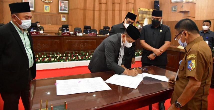 Ranperda Perubahan APBD 2021 Kabupaten Batubara Diterima dan Disetujui DPRD