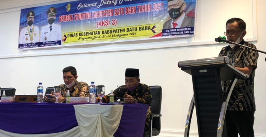 Batubara Ditetapkan Sebagai Kabupaten Lokasi Fokus Penurunan Masalah Gizi Stunting di Sumut