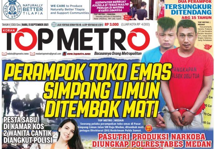 Epaper Top Metro Edisi 1344, Tanggal 15 September 2021