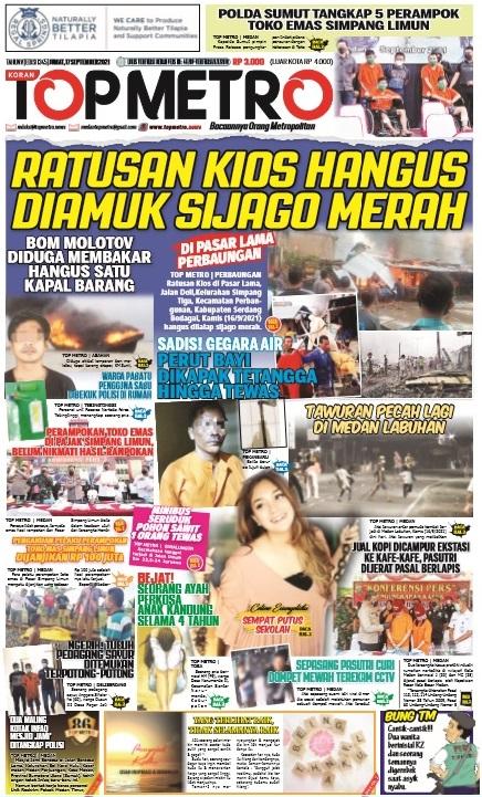 Epaper Top Metro Edisi 1345, Tanggal 17 September 2021