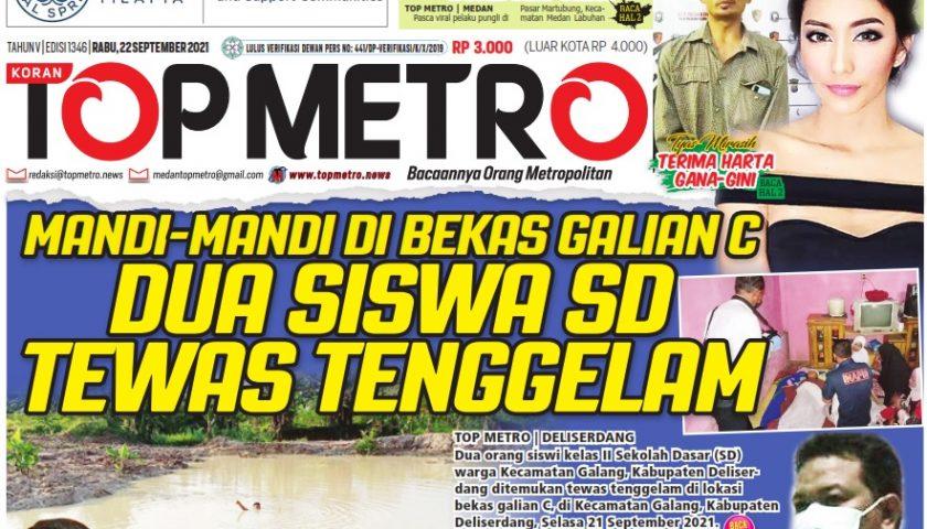 Epaper Top Metro Edisi 1346, Tanggal 22 September 2021