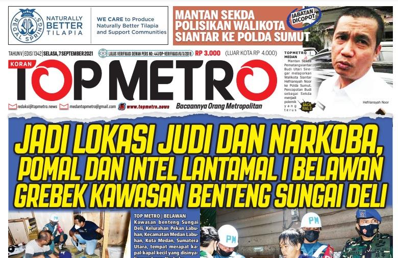 Epaper Top Metro Edisi 1342, Tanggal 7 September 2021