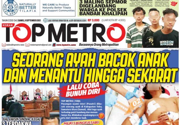 Epaper Top Metro Edisi 1343, Tanggal 9 September 2021