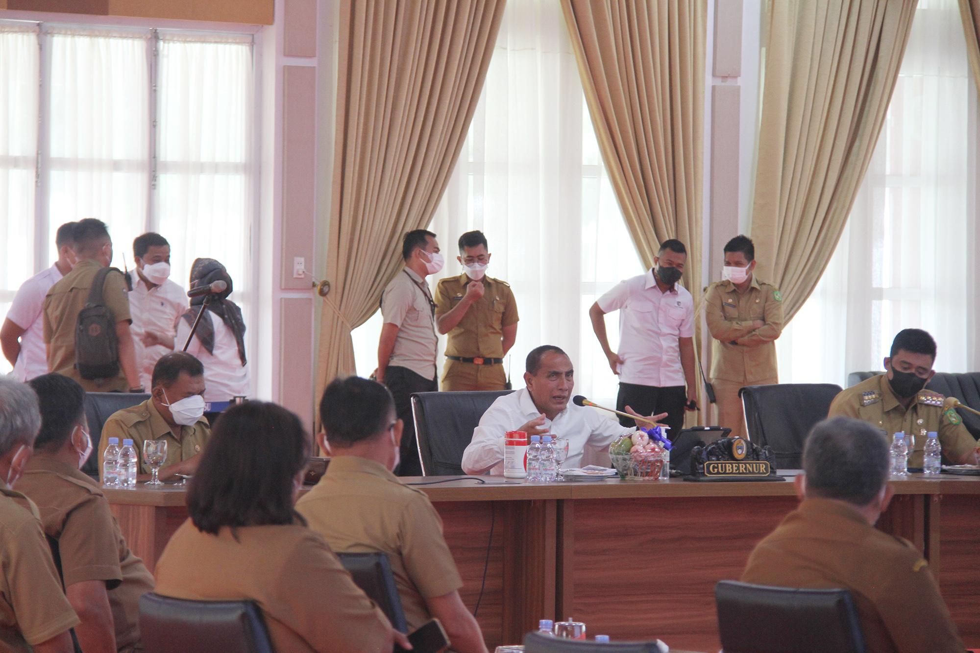 Gubsu Edy Rahmayadi Gelar Rapat Perencanaan Pembangunan Ibu Kota Sumut