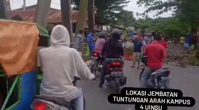 Polisi Amankan Pelaku Pungli di Jembatan Tuntungan