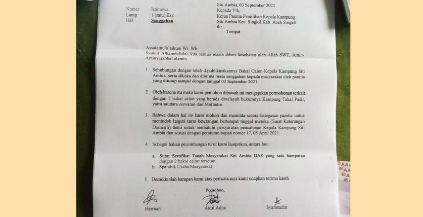 Pemilihan Geuchik Serentak (Pilciktak) di Aceh Singkil