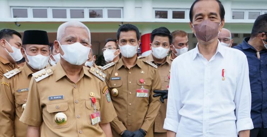 Bupati Asahan Hadiri Kunjungan Presiden di Rumah Dinas Gubsu