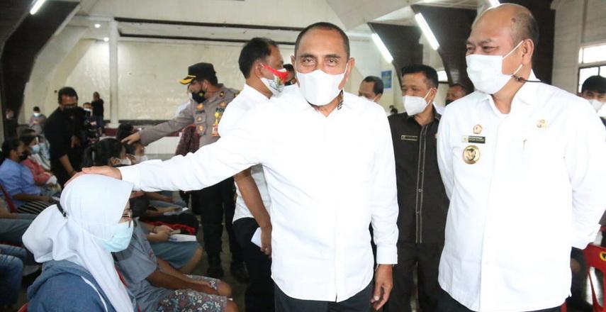 Bupati Taput Drs Nikson Nababan MSi Sambut Kunker Gubsu Edy Rahmayadi