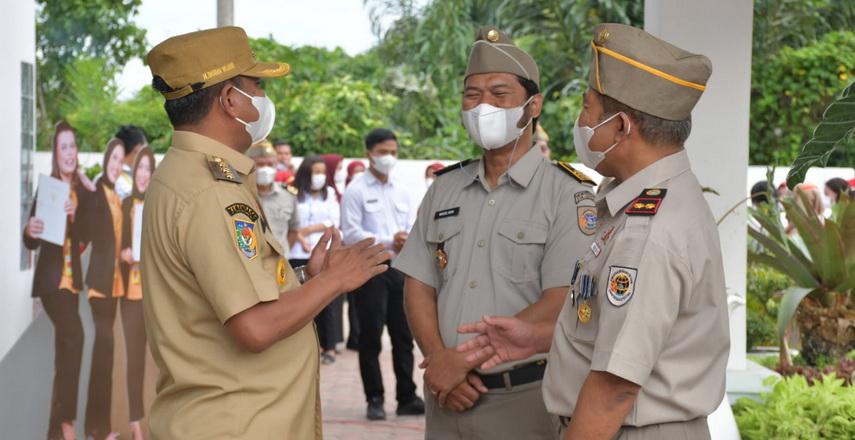 Bupati Sergai H Darma Wijaya menjadi inspektur pada Upacara Peringatan Hari Agraria
