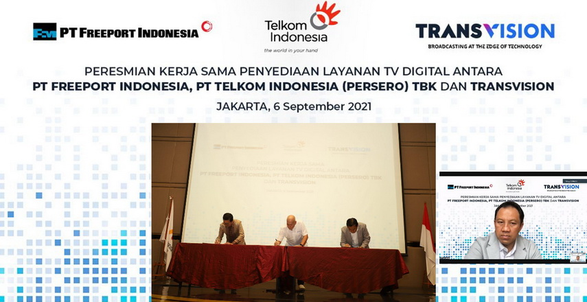 Telkom dan Transvision, Hadirkan Layanan TV Digital untuk Freeport Indonesia