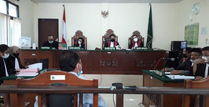 Persidangan No. Perkara 246/Pid.B/2021/PN.Stb dugaan bersaksi palsu