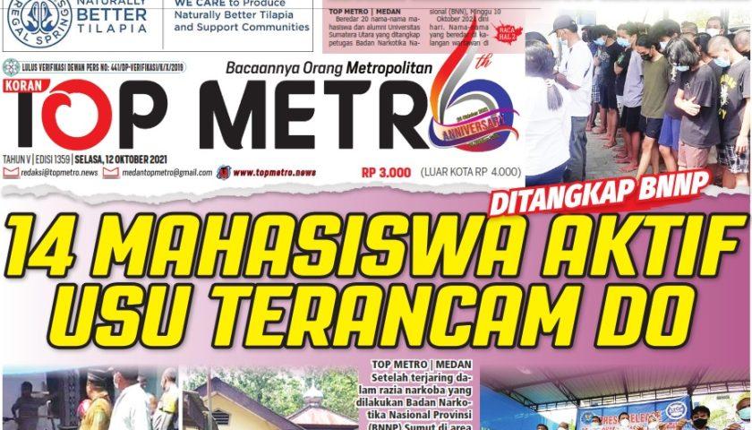 Epaper Top Metro Edisi 1359, Tanggal 12 Oktober 2021
