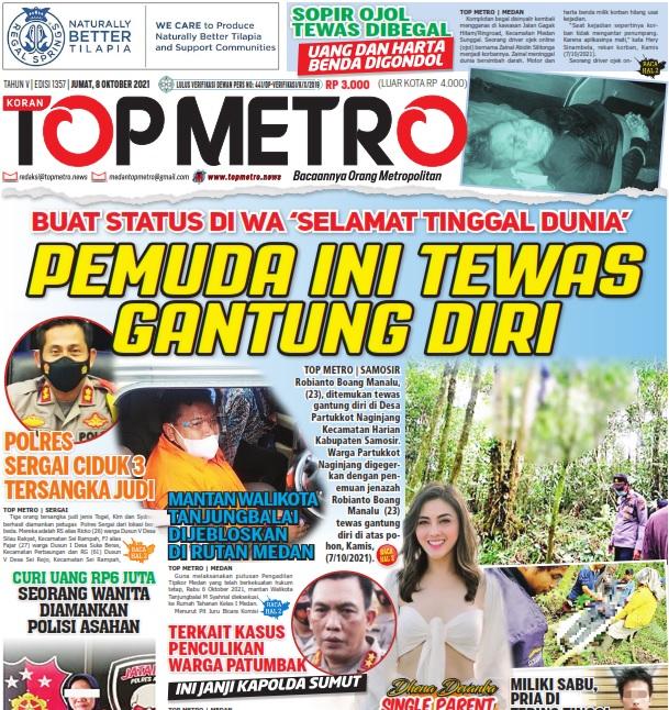 Epaper Top Metro Edisi 1357, Tanggal 8 Oktober 2021