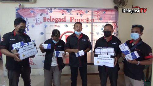 PT Media Delegasi Nusantara Bagikan Masker di Jalanan