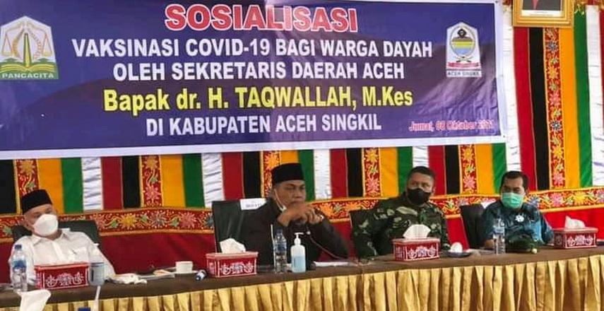Serbuan Vaksinasi di Aceh Singkil terus digalakkan